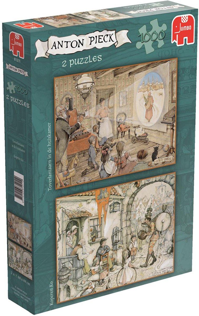Anton Pieck 2in1 Jumbo Premium Collection Puzzels 1000 Stukjes