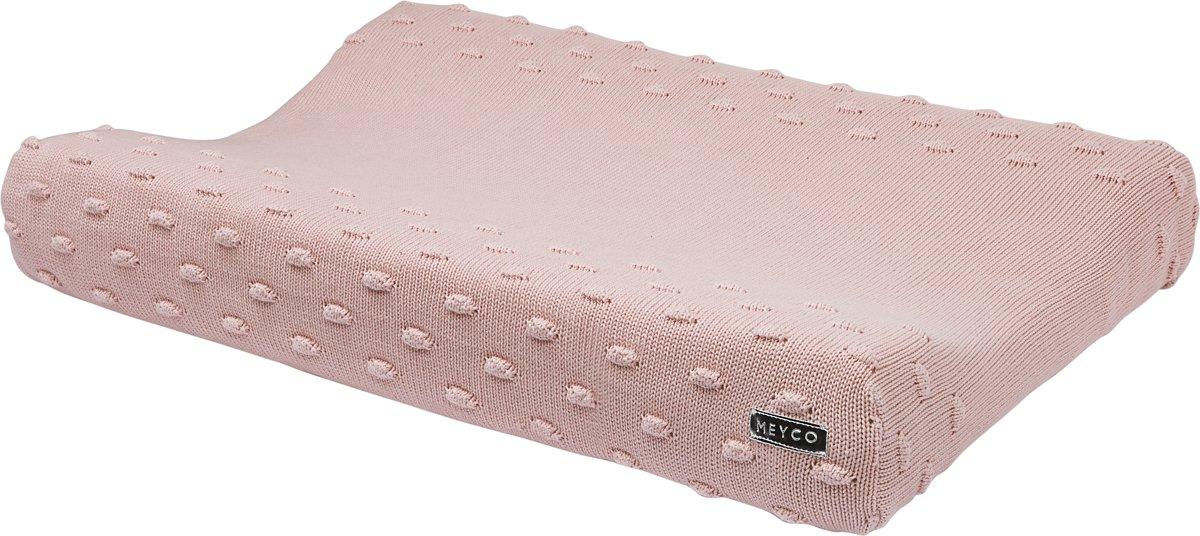 Meyco Knots aankleedkussenhoes - roze