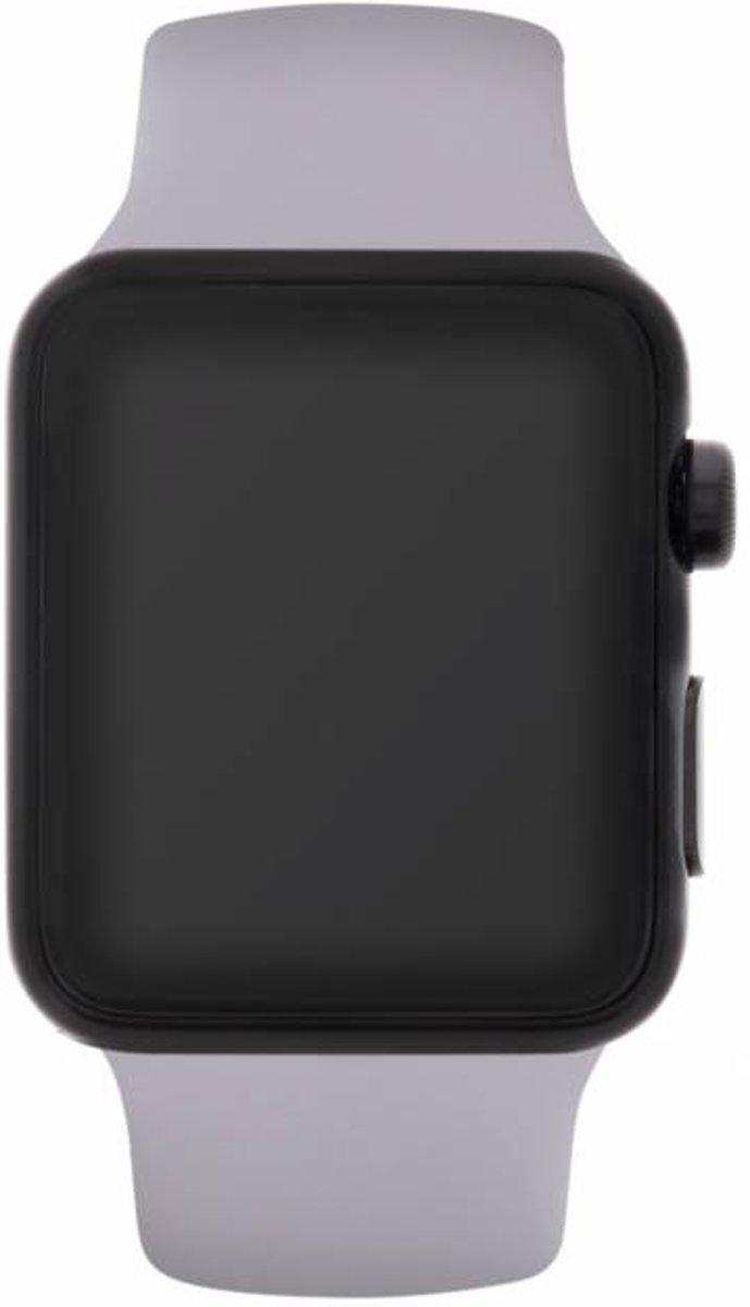 Grijs siliconen sport bandje voor de Apple Watch 40 / 38 mm kopen