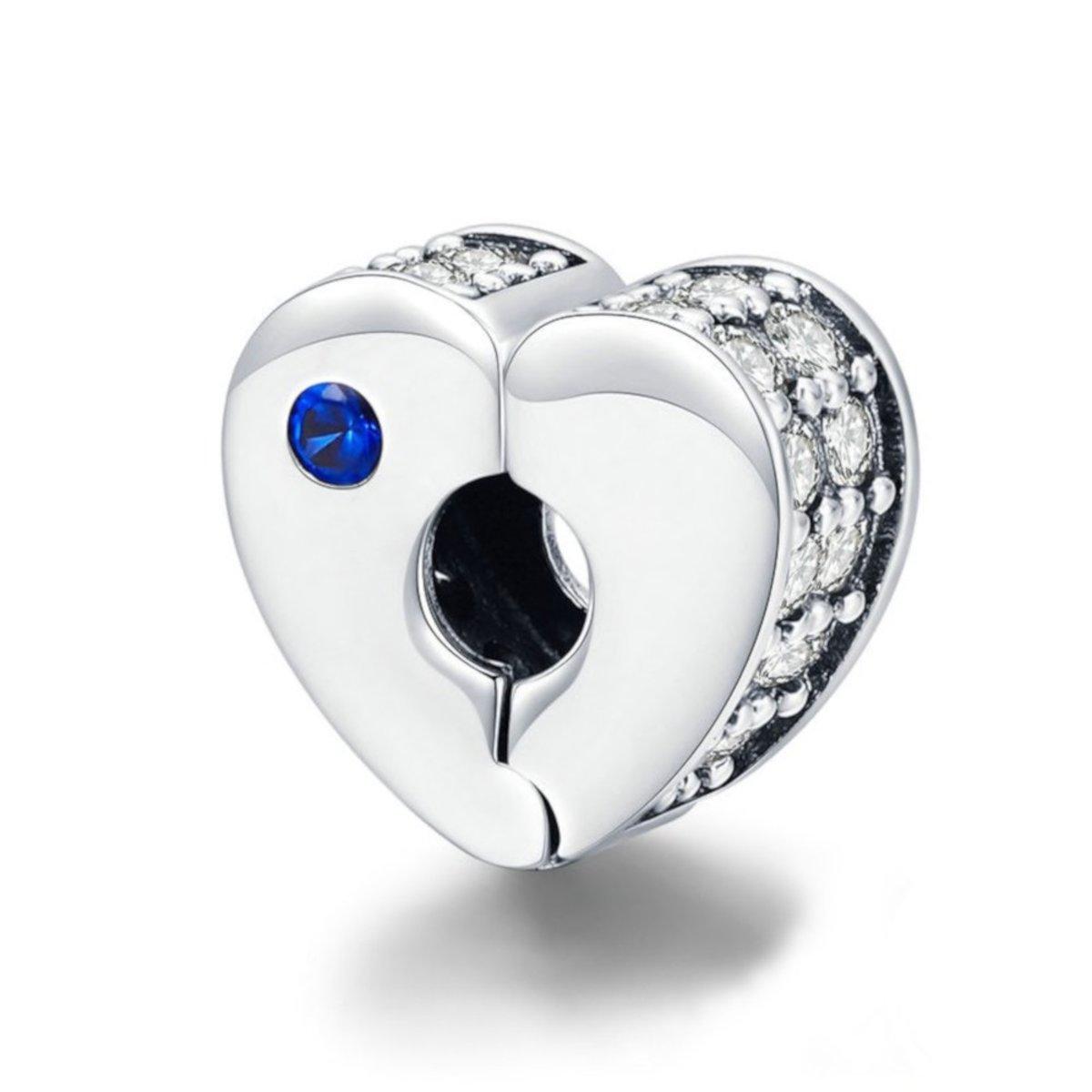 Zilveren clip hartvormig kopen