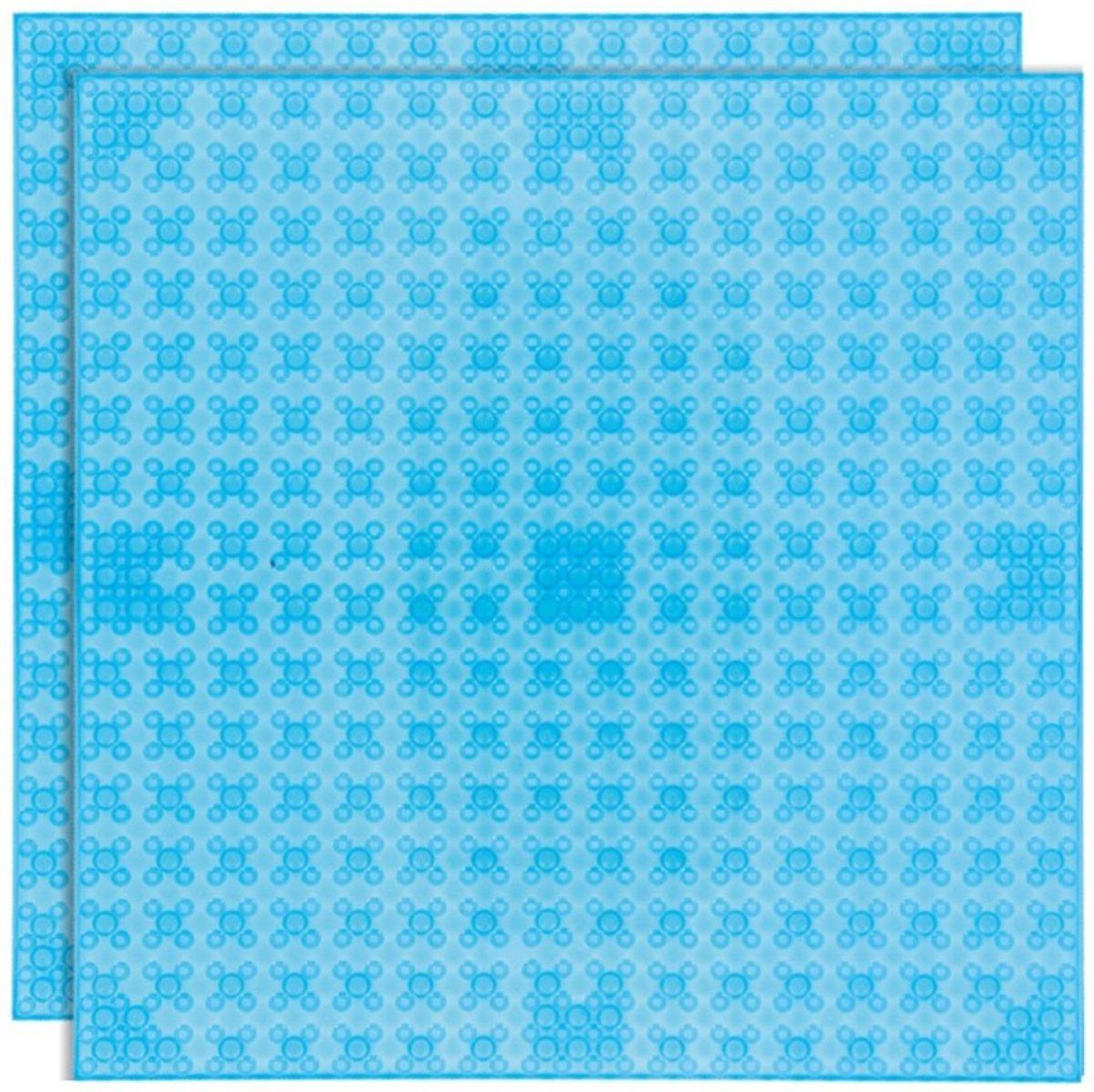 Strictly BRIKS LBP322TTT Bouwplaat 32x32 Transparant Lichtblauw Duopak