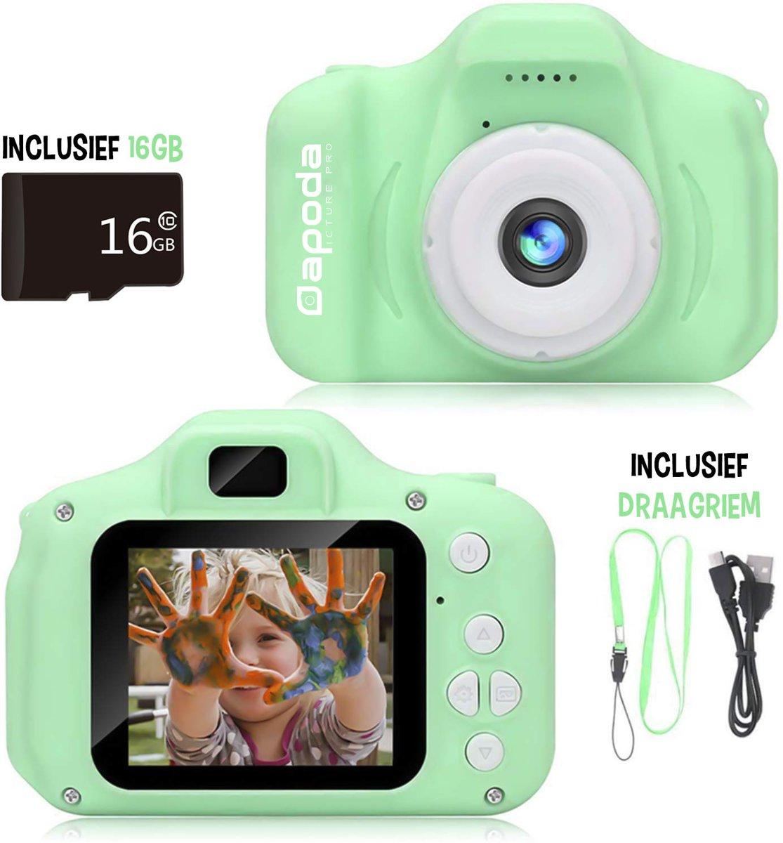 Dapoda� Digitale Kindercamera � Compact Fototoestel voor Kinderen � Speelgoed - Groen