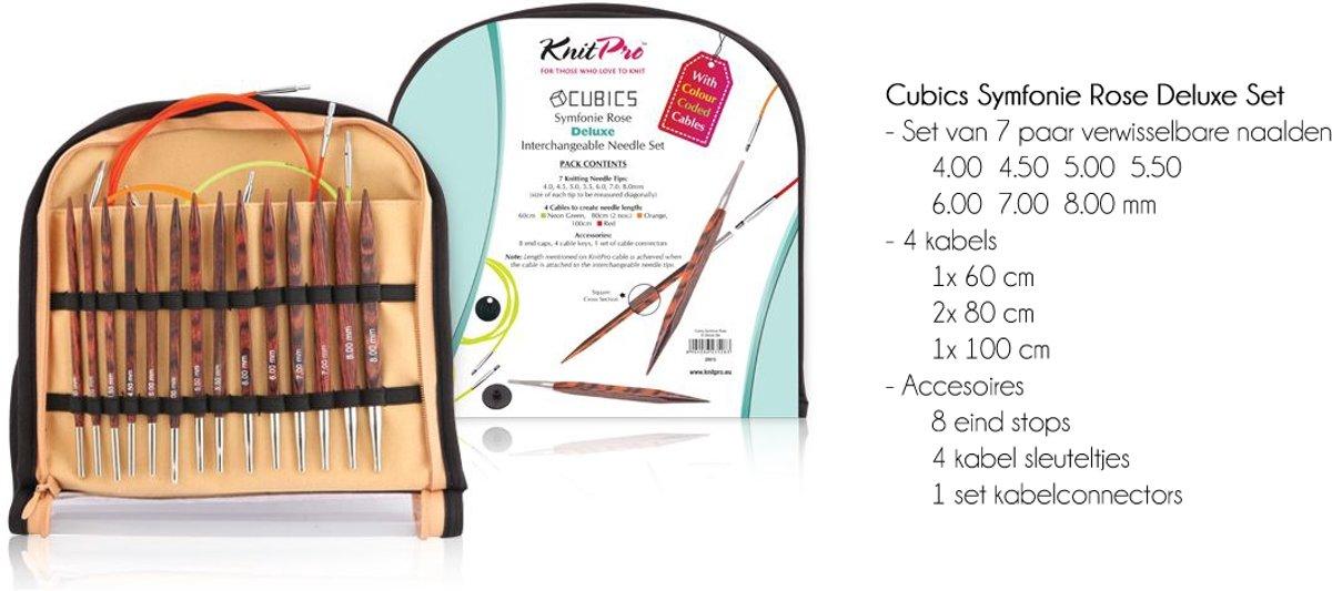 KnitPro Cubics Symfonie Rose Deluxe set kopen