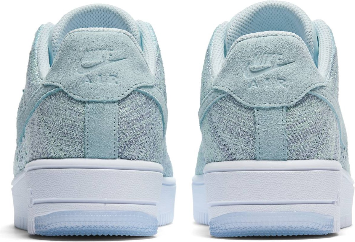 info for 38577 84387 bol.com  Nike Air Force 1 Flyknit Low - Sneakers - Vrouwen - 820256-400 -  Maat 38,5 - Glacier Blue