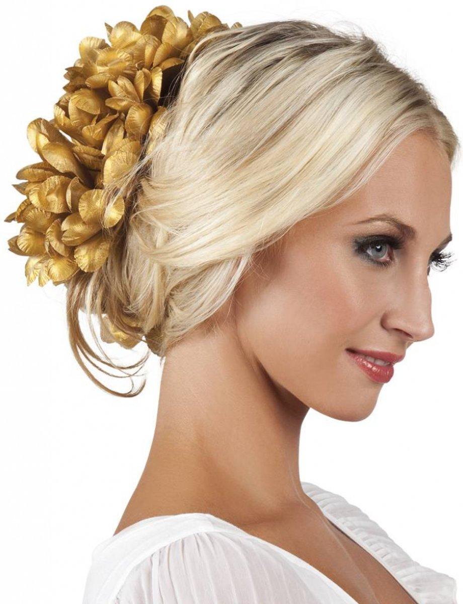 Haarbloem Goud 20cm