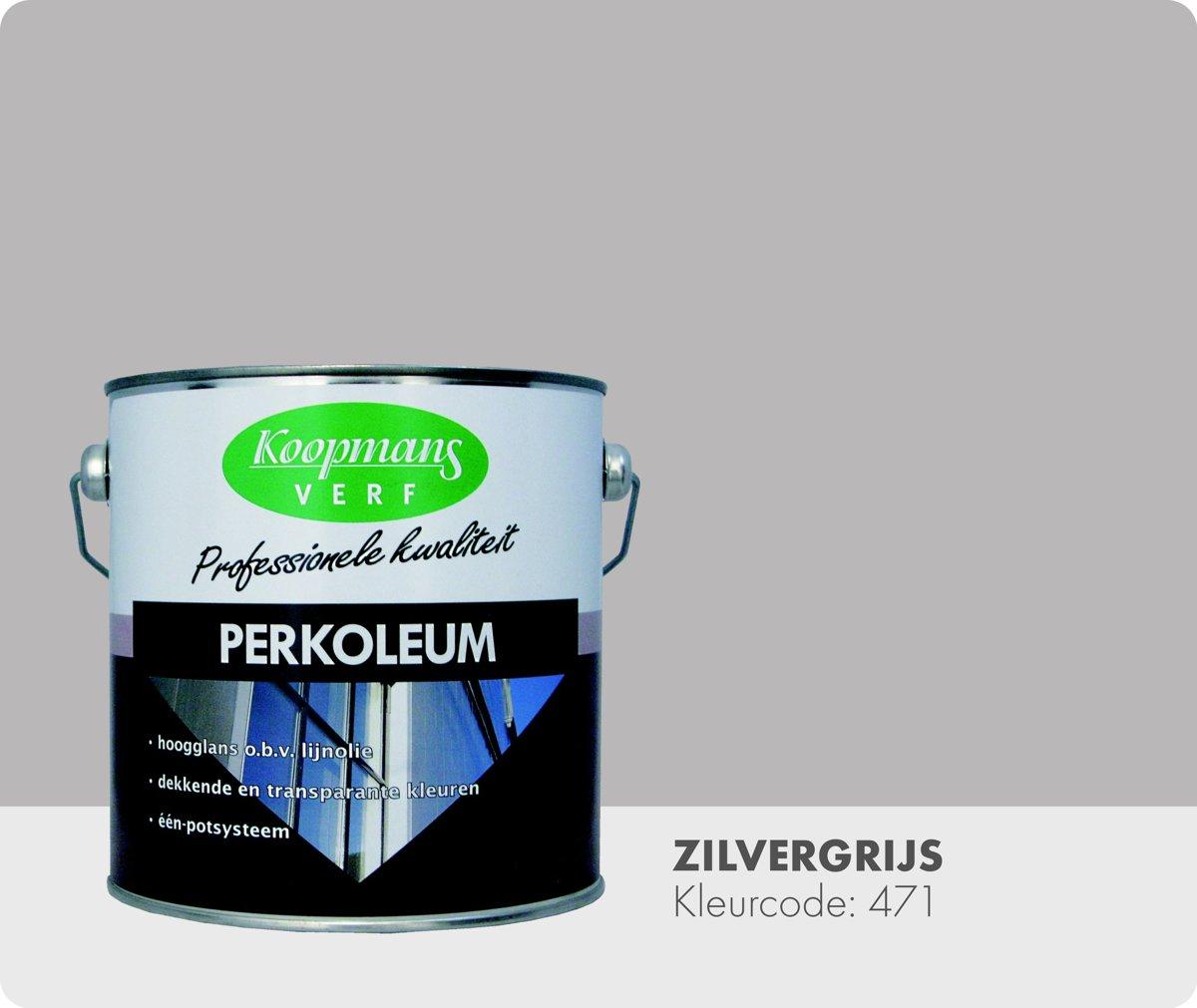 Koopmans Perkoleum - Dekkend - 2,5 liter - Zilvergrijs 471