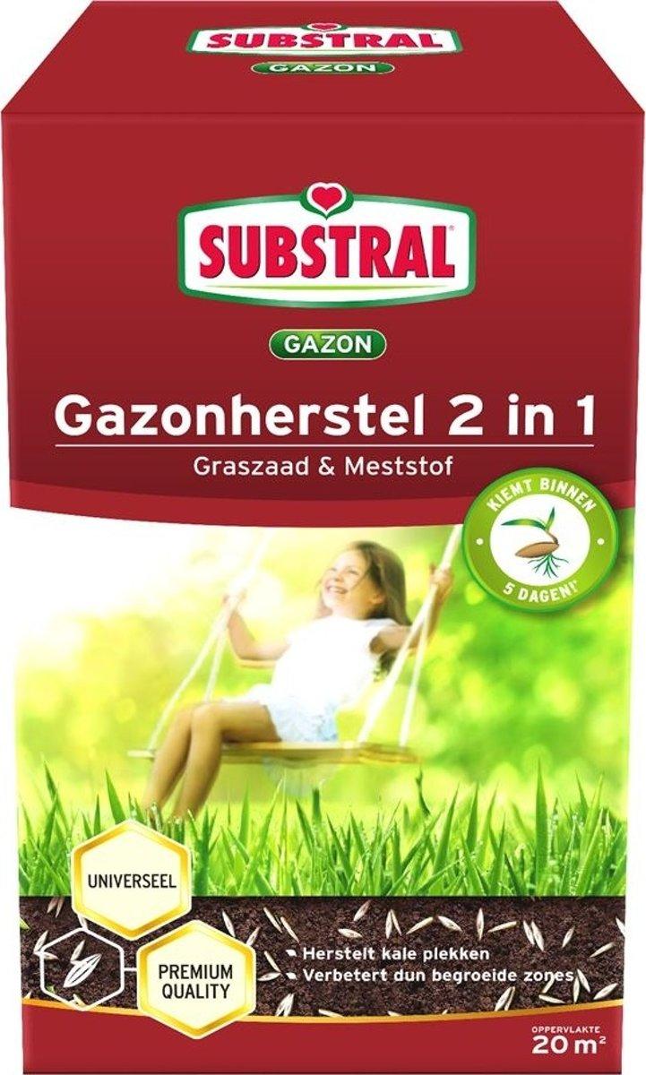 Gazonherstel graszaad + mest 2-IN-1 - 20 m² - set van 3 stuks