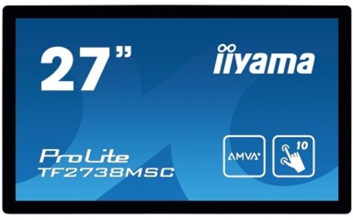 iiyama ProLite TF2738MSC-B1 touch screen-monitor 68,6 cm (27'') 1920 x 1080 Pixels Zwart Multi-touch