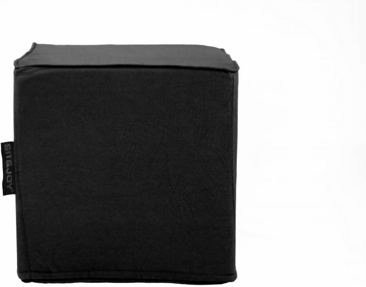 Hocker Canvas Cotton Zwart kopen