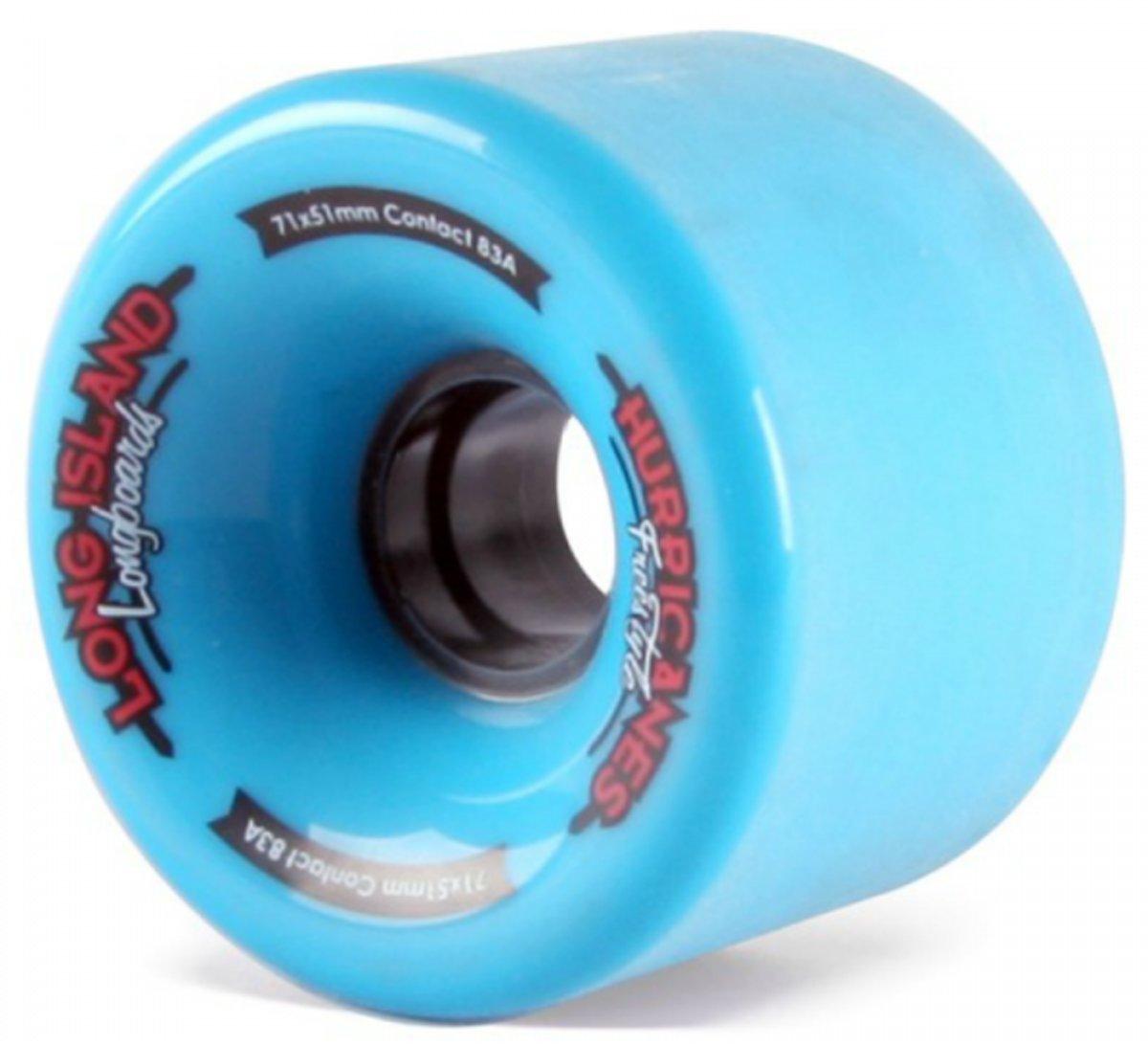 Long Island Wheels Pack blue hurricanes 70mm