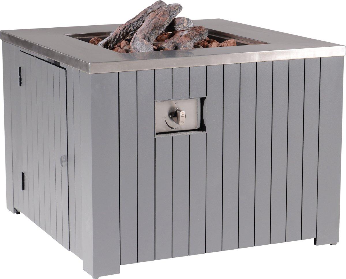 Garden Impressions - Cozy living - sfeerdhaard Faro - 80x80 - arctic grey kopen