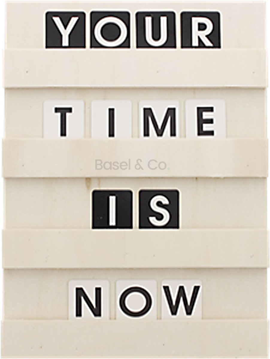 Letterbord Hout Inclusief 120 houten letters en cijfers 24 x 35 cm kopen
