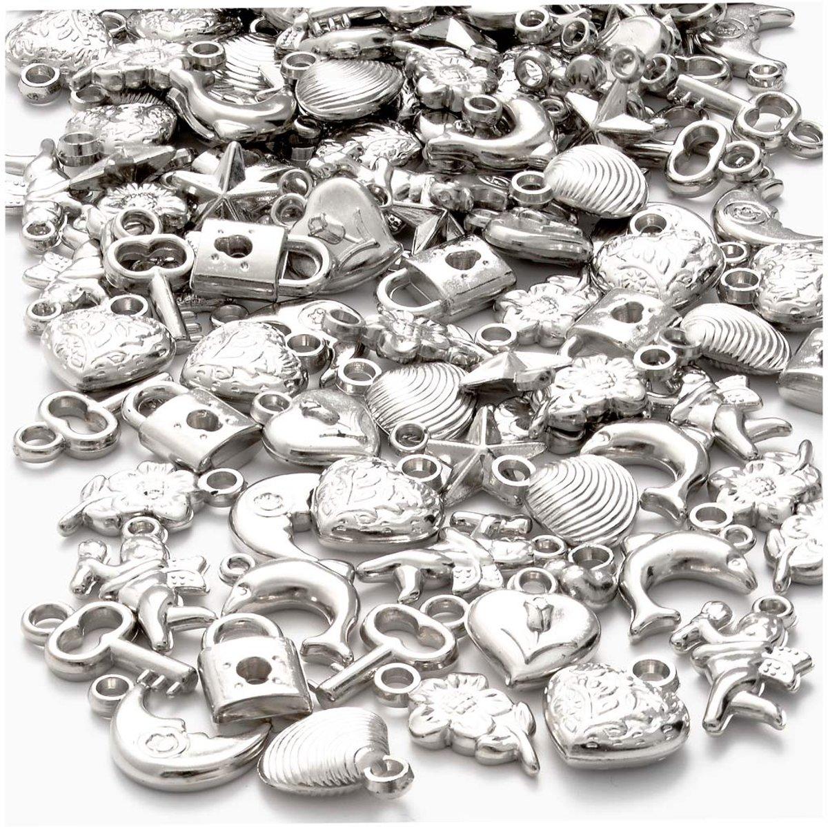 Zilveren bedels, afm 15-20 mm, 80 gr kopen