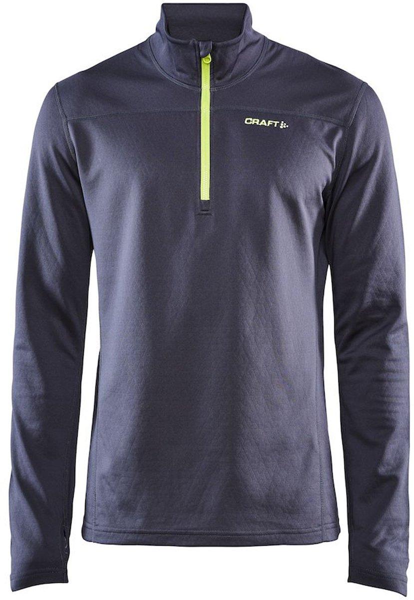 Craft Pin Halfzip  Wintersportpully - Maat M  - Mannen - grijs/geel kopen