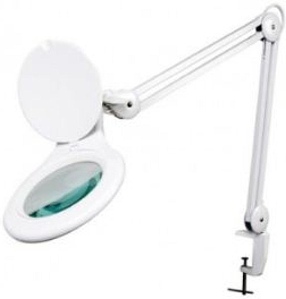 Velleman Led bureaulamp met vergrootglas 5 Dioptrie - wit kopen