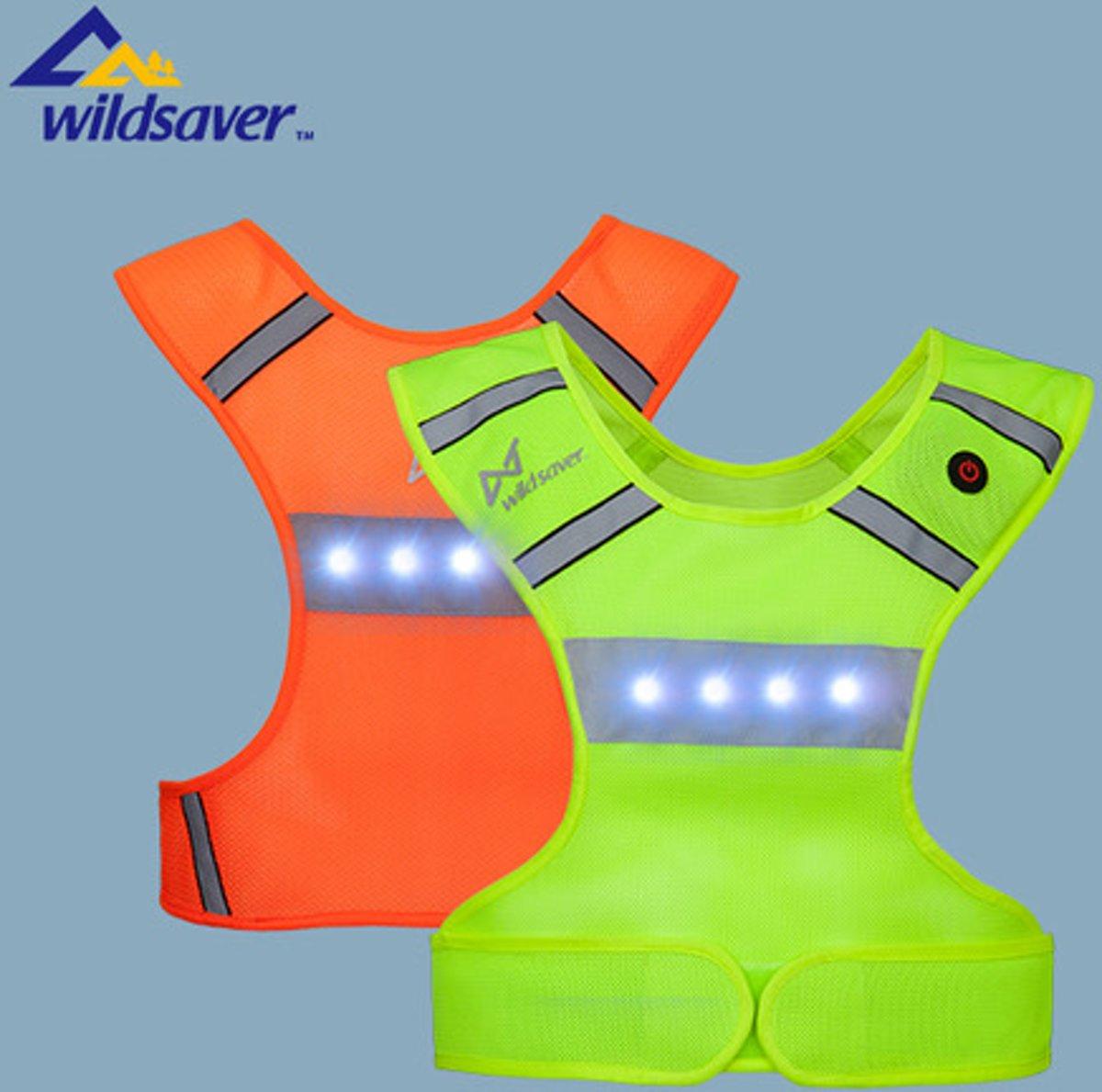 bol.com   Wildsaver Reflectievest - LED Hesje Oranje ...