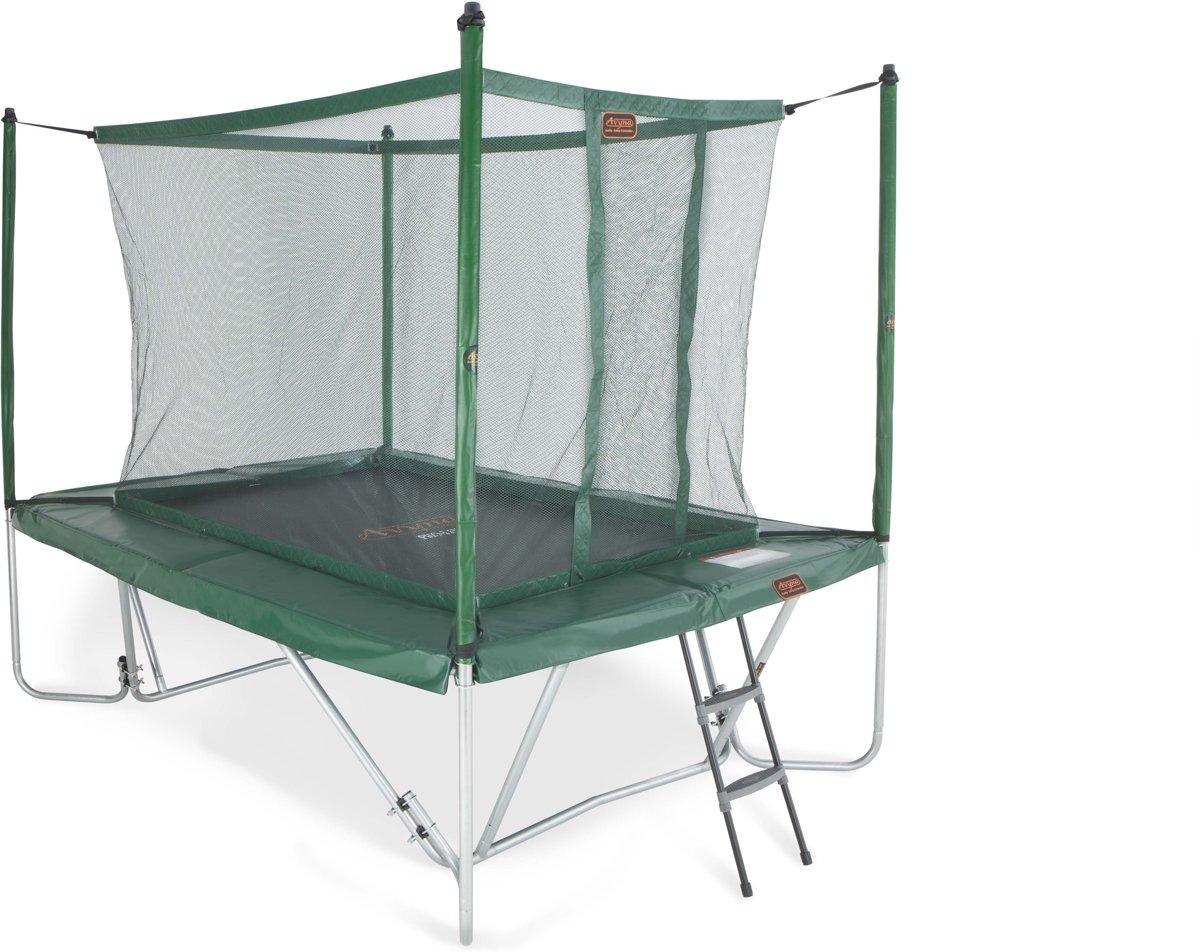 Avyna trampoline PRO-LINE 23 (300x225cm) + net boven + ladder - groen