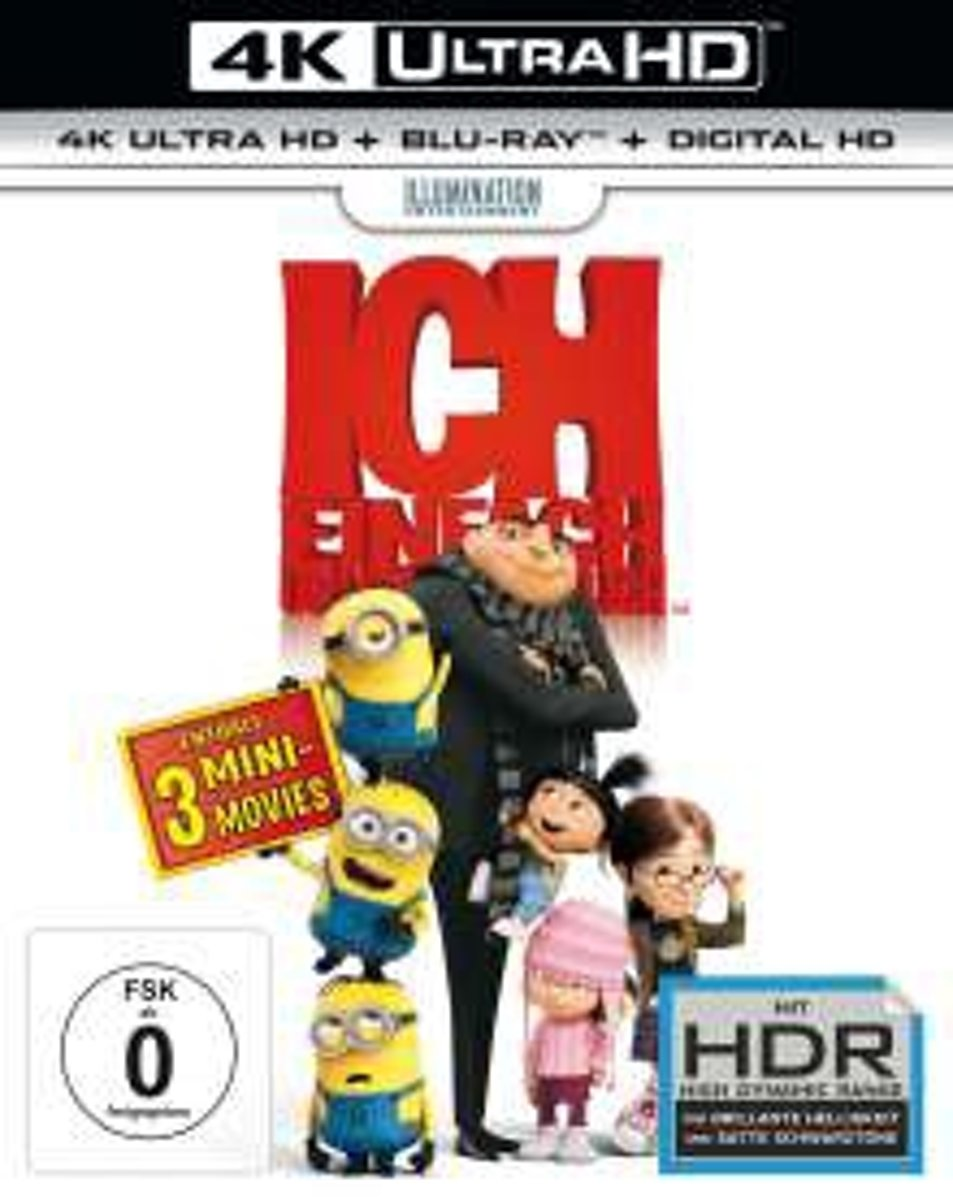 Despicable Me (2010) (Ultra HD Blu-ray & Blu-ray)-