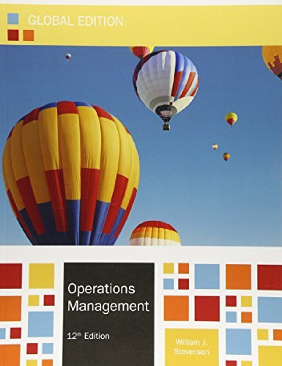 bol.com | Operations Management Global Ed 12E | 9780077169527 | Stevenson |  Boeken