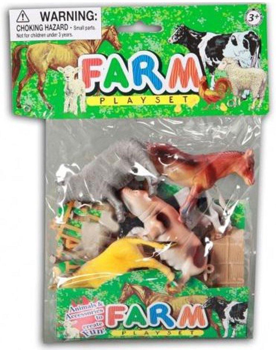 Boerderij dieren 10 stuks in zakje - 10 cm kopen
