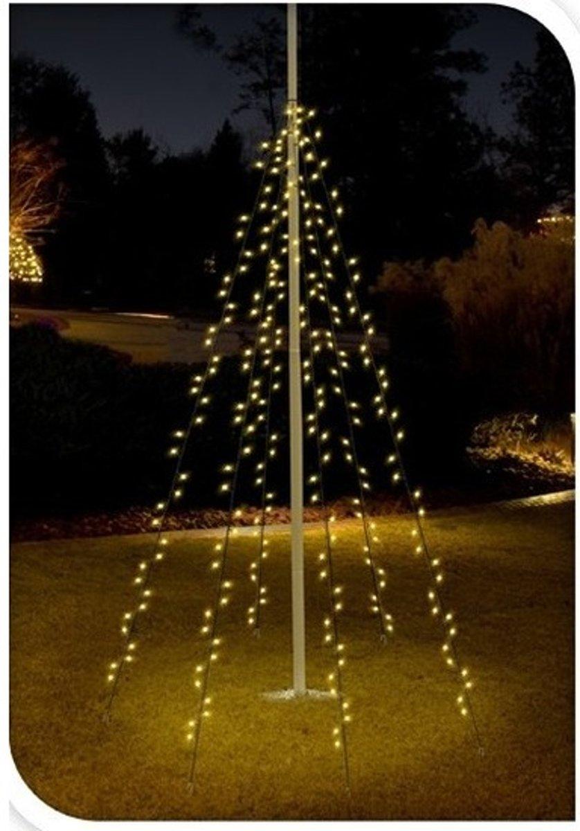 Vlaggenmast verlichting 360 lampjes voor buiten - vlaggenmast kerstverlichting kopen