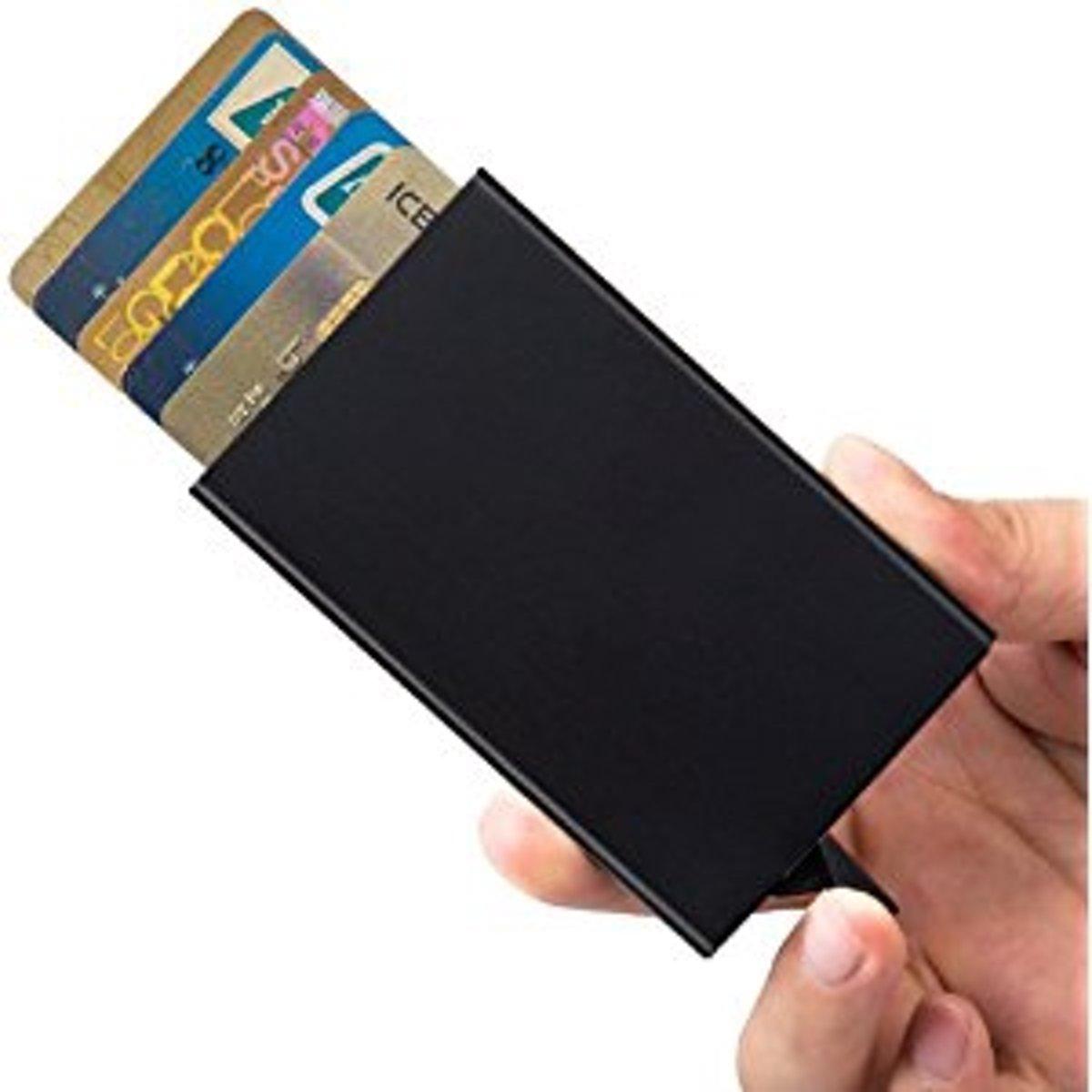 74753b322ff bol.com | Synnect Anti-RFID Aluminium Uitschuifbare Pasjeshouder -  Portemonnee – Cardprotector -.