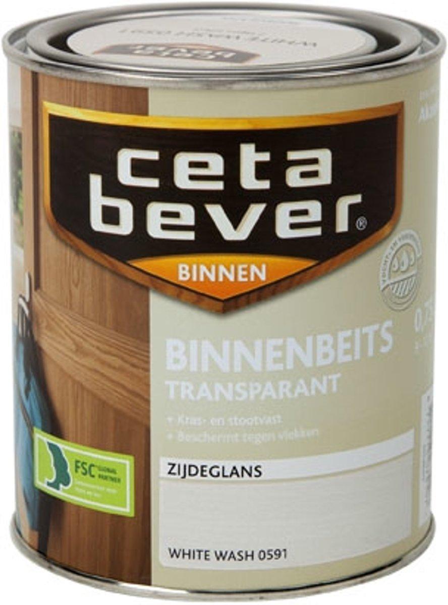 Cetabever Binnenbeits Transparant Acryl - 0,75 liter - White Wash