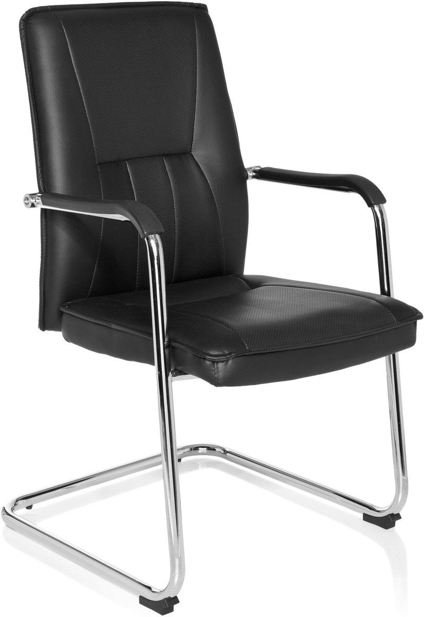 hjh office Tila PU - Bureaustoel - Vergaderstoel - Bezoekersstoel - Zwart kopen