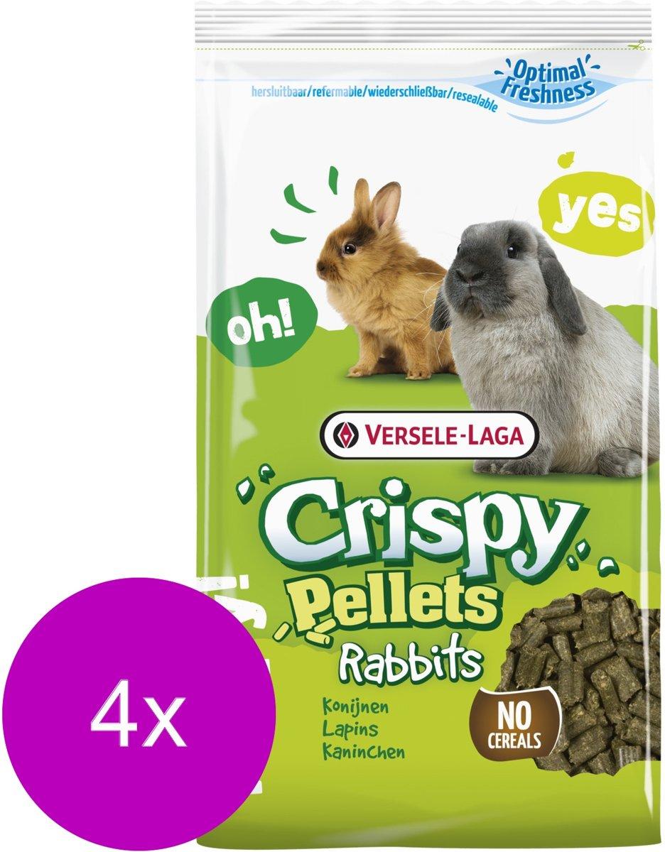 Versele-Laga Crispy Pellets Konijn - Konijnenvoer - 4 x 2 kg