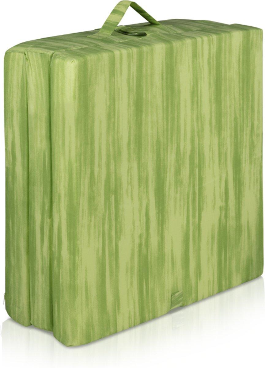 Inklapbaar vouwmatras  - opvouwbare matras 65x190cm groen
