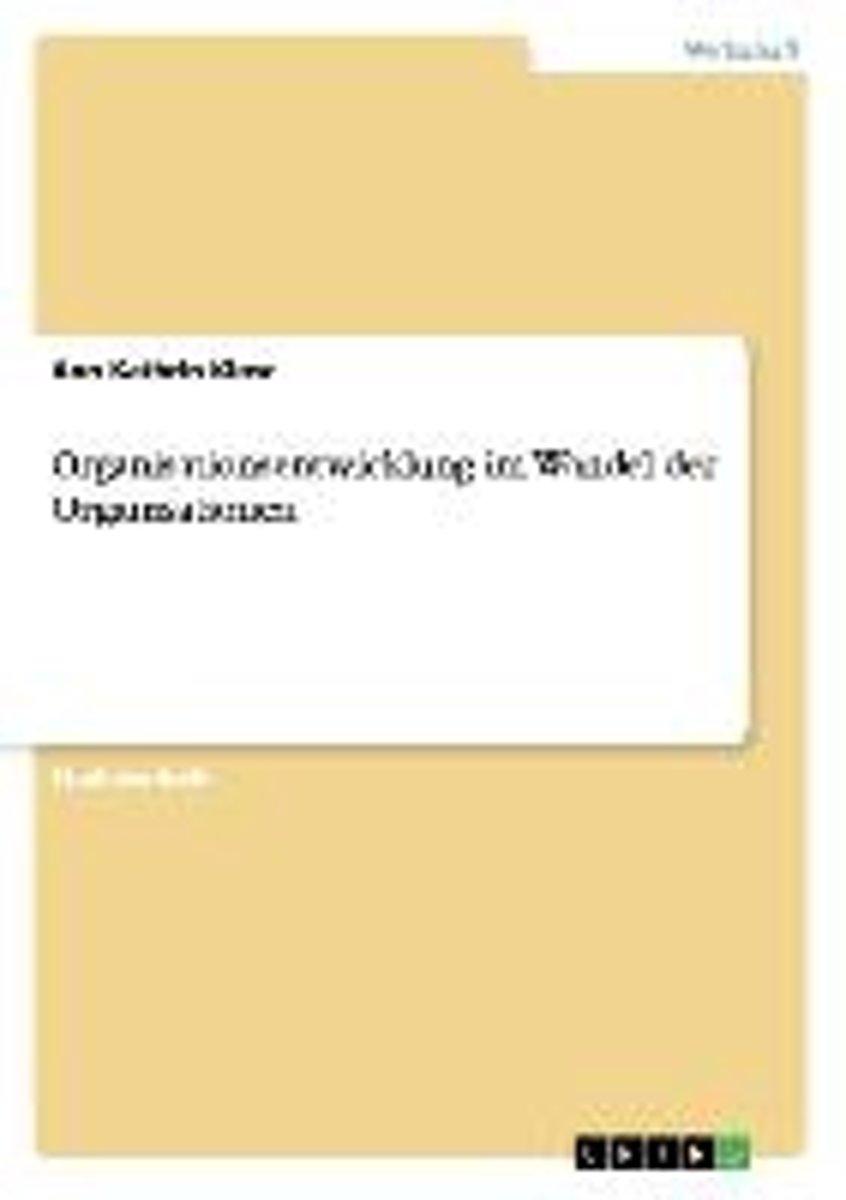 Organisationsentwicklung hausarbeit konzept bachelorarbeit