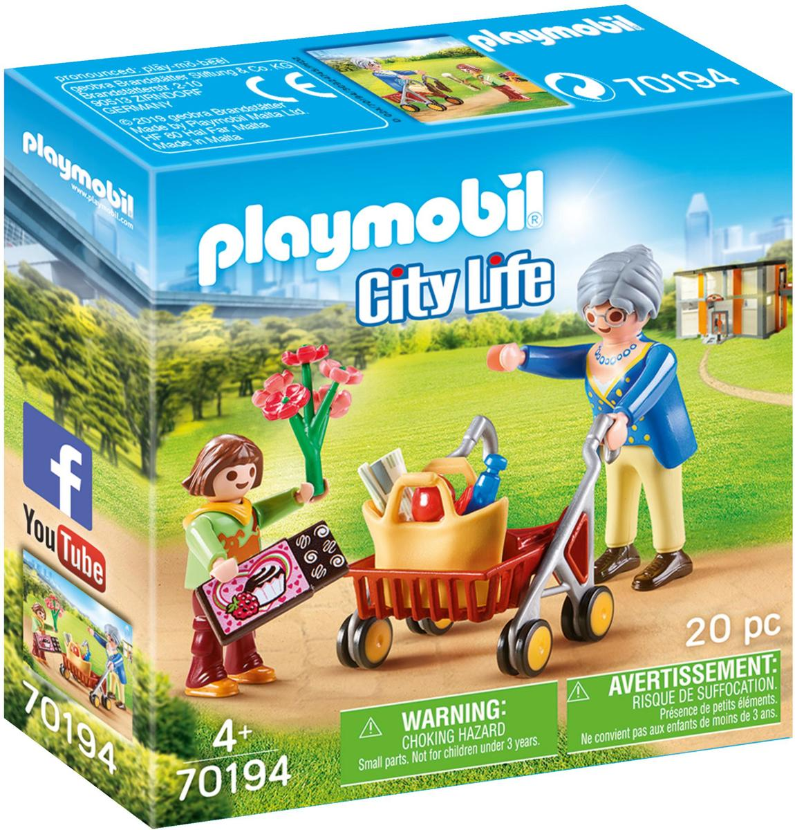 PLAYMOBIL  Oma met rollator - 70194