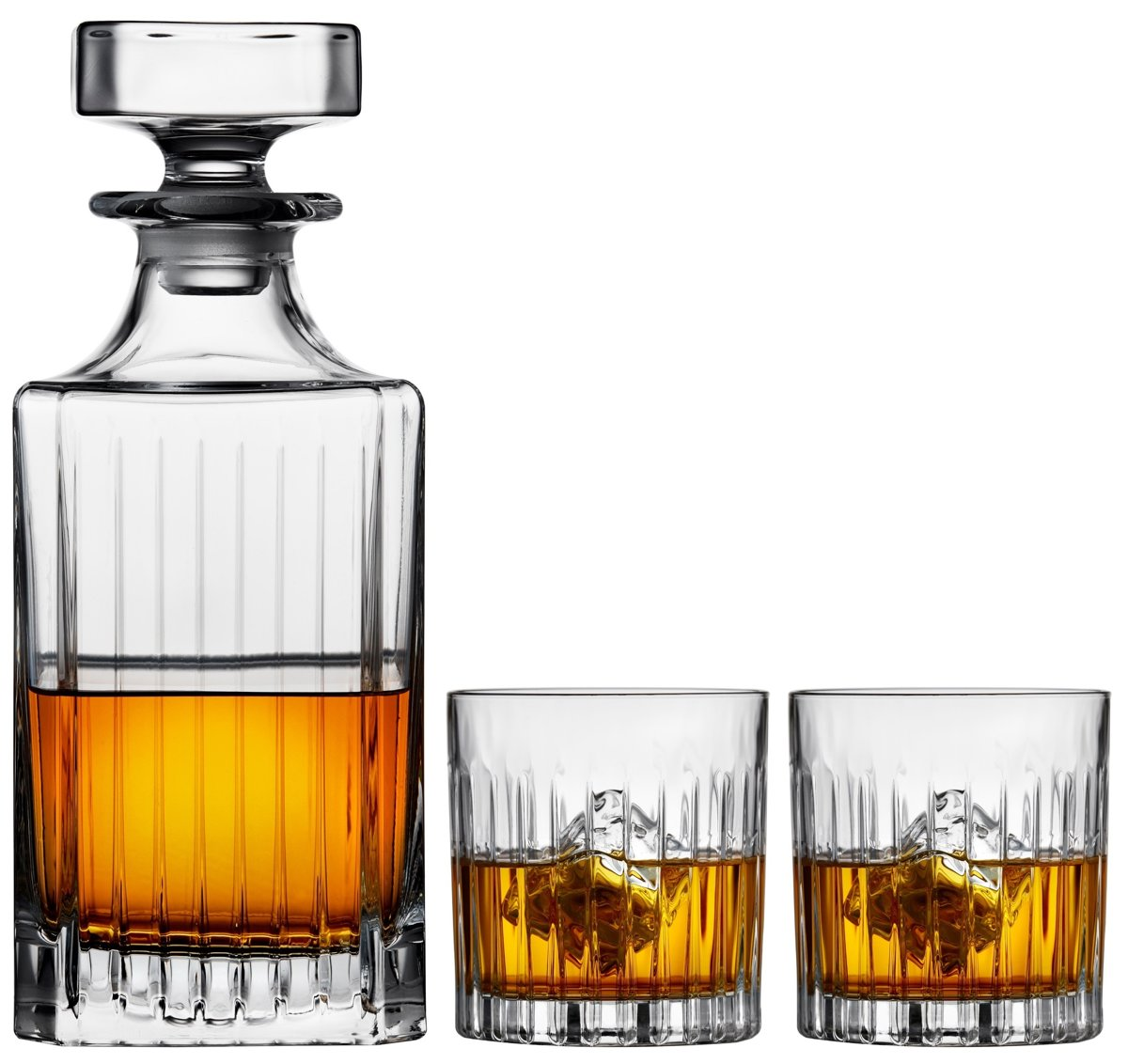Sareva Whisky Set Whisky Karaf Tumblers Moville 3-Delig