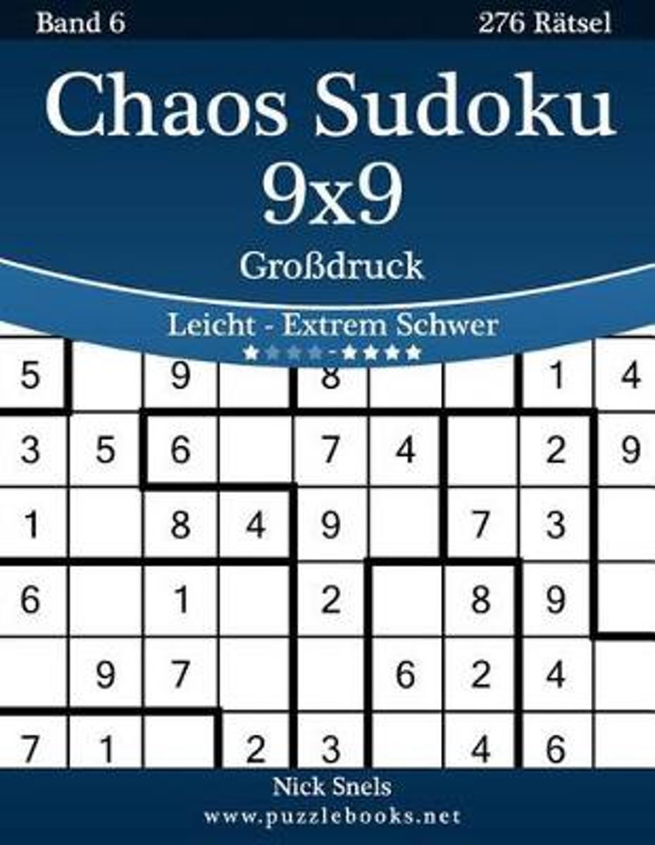 bol.com | Chaos Sudoku 9x9 Grodruck - Leicht Bis Extrem Schwer ...