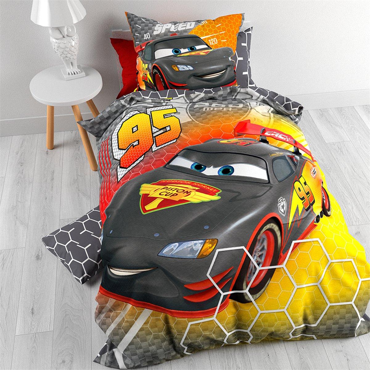 Disney Cars Carbon Dekbedovertrek met Kussensloop (140x200cm) kopen