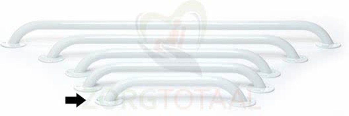 Douchegreep / Wandbeugel Wit Staal 30 cm kopen