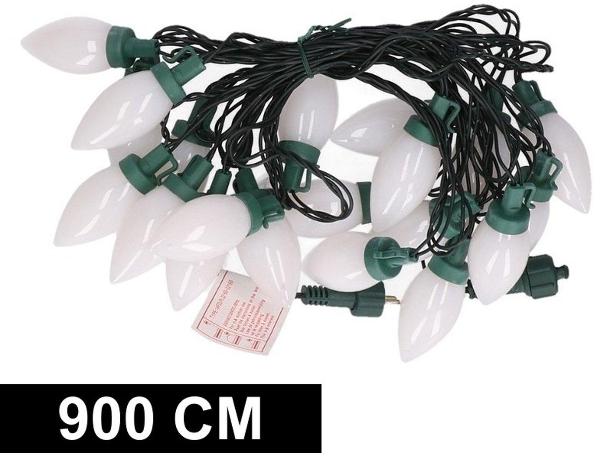 Kerstverlichting kaarsjes warm wit buiten 900 cm lichtsnoer kopen
