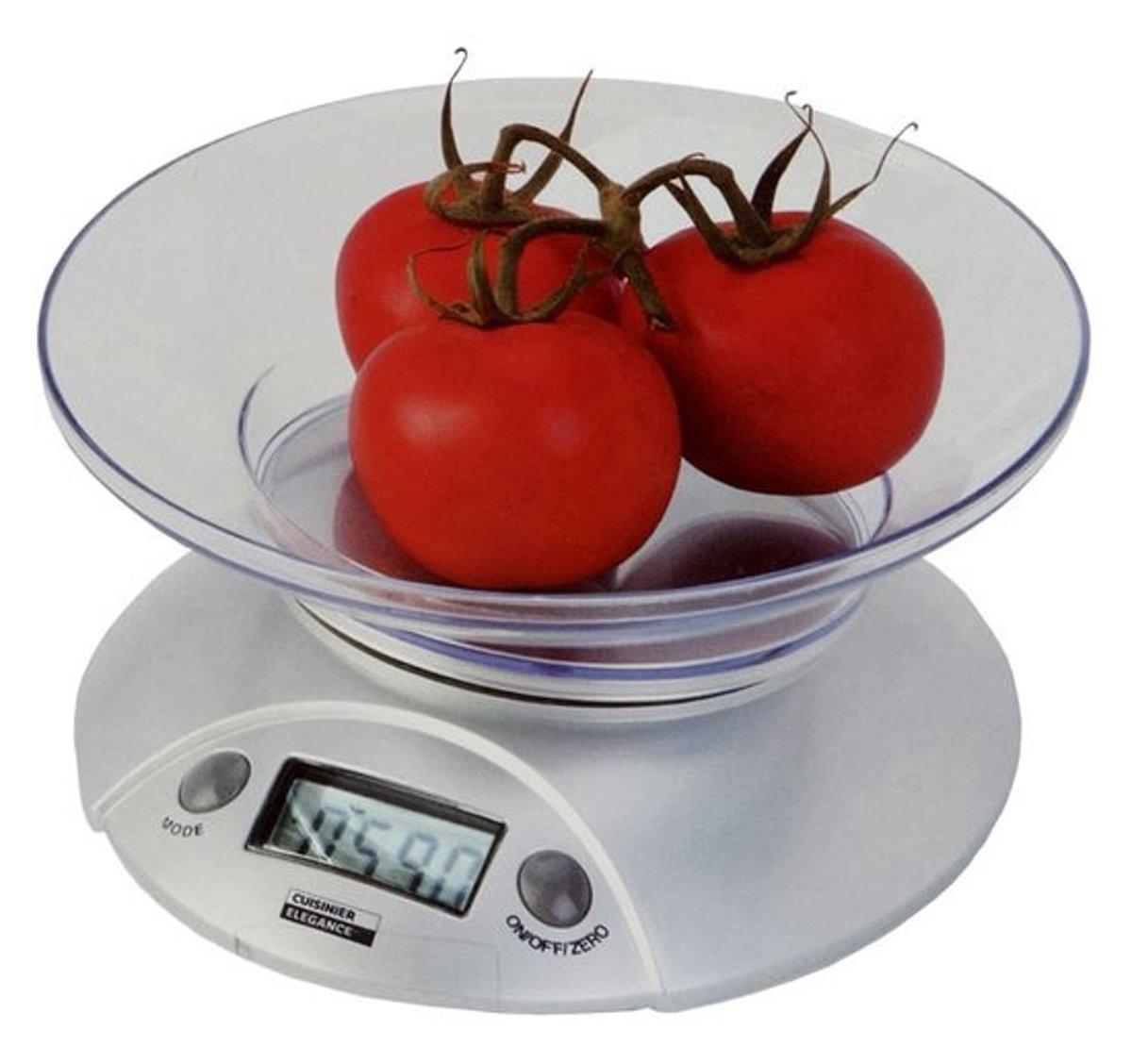 Digitale Keukenweegschaal Met Kom - 3KG - Precisie Tot 1 Gram