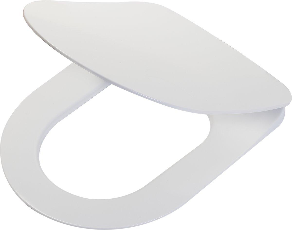 Tiger Lisbon wc-bril met D-vorm - Softclose - Afklikbaar - Duroplast - Wit kopen