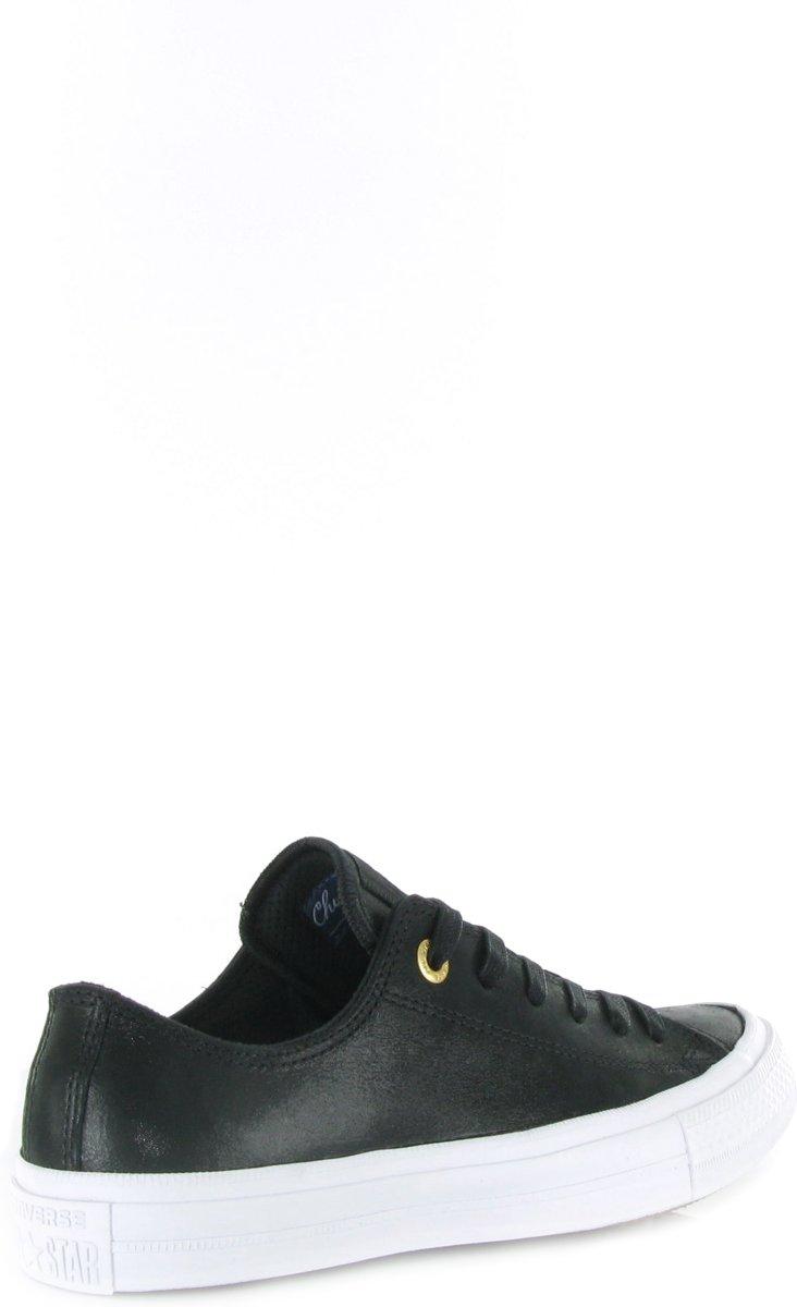 eb8930307f8 bol.com   Converse Chuck II Ox Craft Leather - Sneakers - Maat 37,5 - Zwart  - Black/Black/White