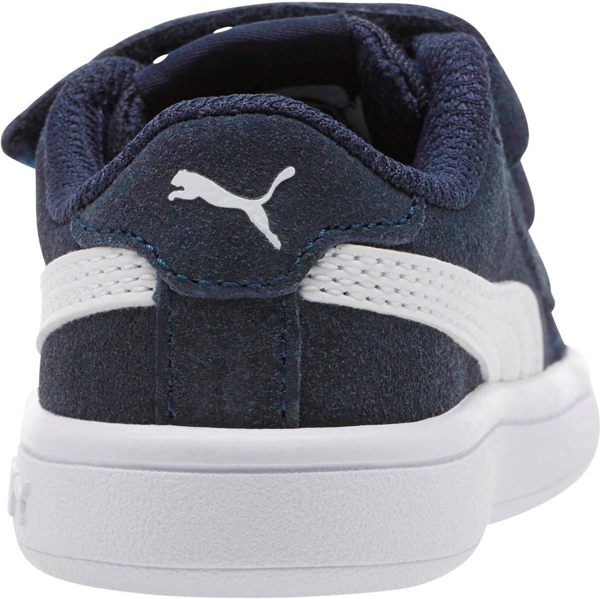 5c6eeec1489 bol.com | PUMA Smash V2 Sd V Inf Sneakers Kinderen Peacoat / Puma White -  Maat 25