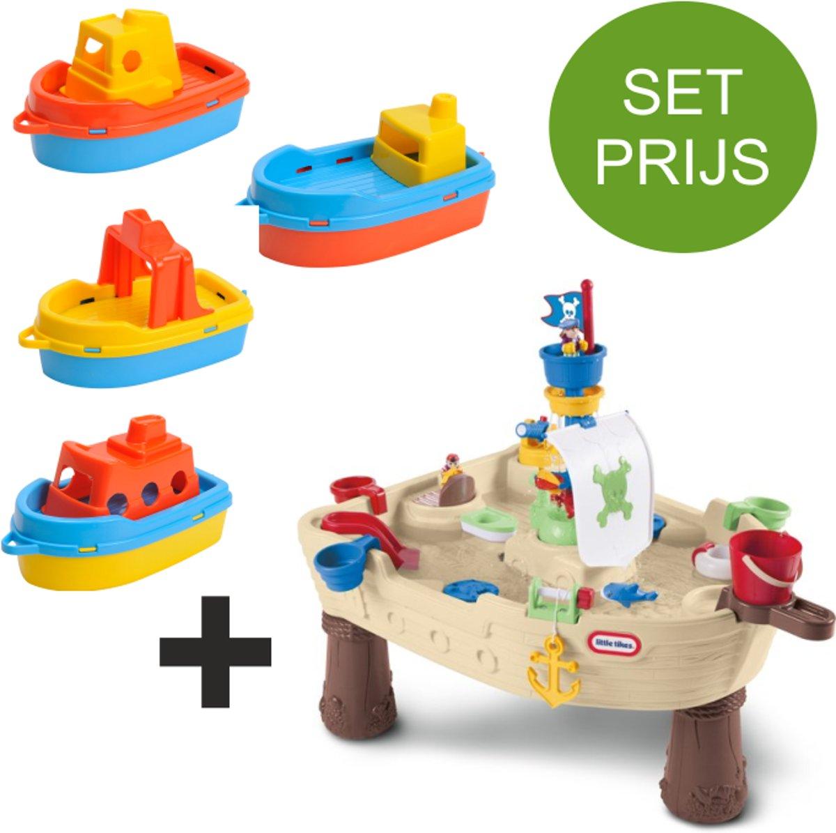 Little Tikes Piraten Watertafel met 4 kunststof bootjes