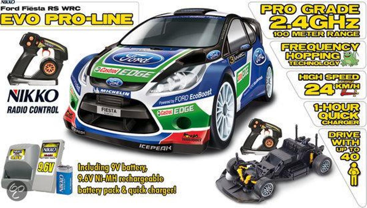 Nikko Ford Fiesta WRC Evo 1:14 - Bestuurbare auto
