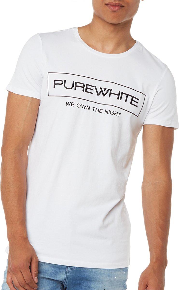 bol.com   Purewhite  we own the night  logo t-shirt - Heren - Wit 1e2a6de48b