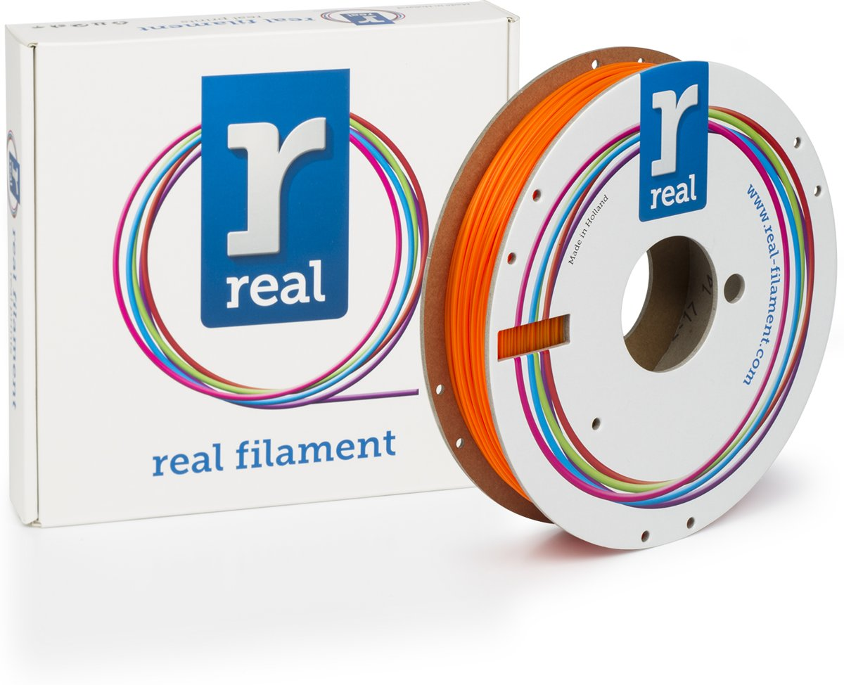 REAL Filament PLA fluoriserend oranje 1.75mm (500g)