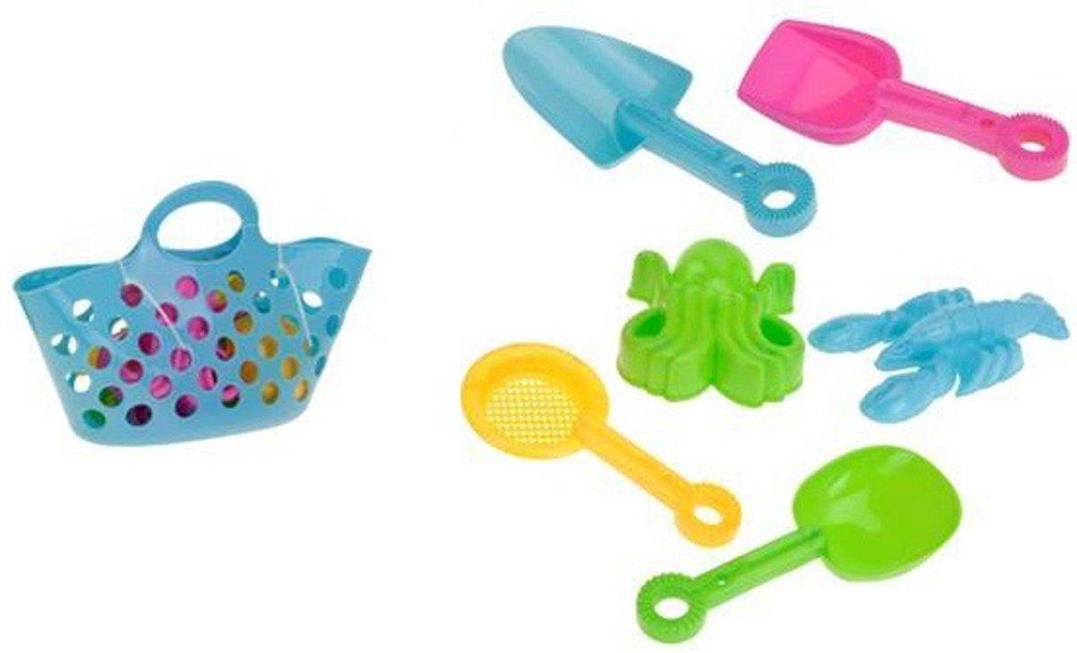 Eddy Toys Mand Met Strandspeelgoed Blauw 7-delig kopen
