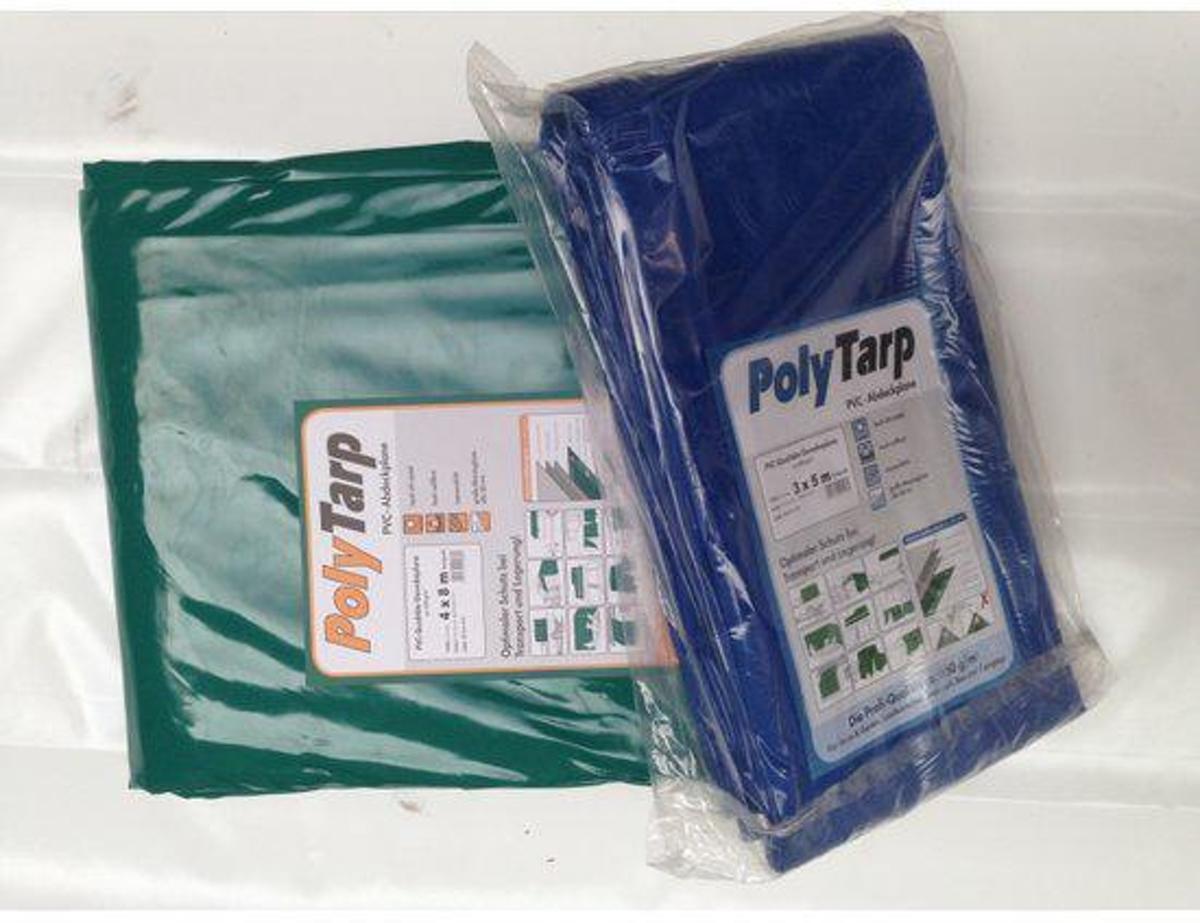 Afdekzeil | Dekzeil | Dekkleed | Afdekkleed | Bache | PVC-600 |3,5 x 5 blauw