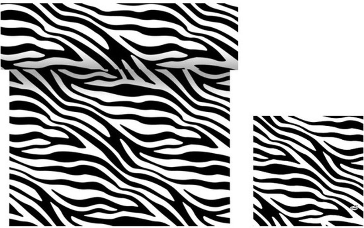 Tafeldecoratie set zebra print tafelkleed/servetten zwart/wit - Dieren thema papieren tafeldecoraties