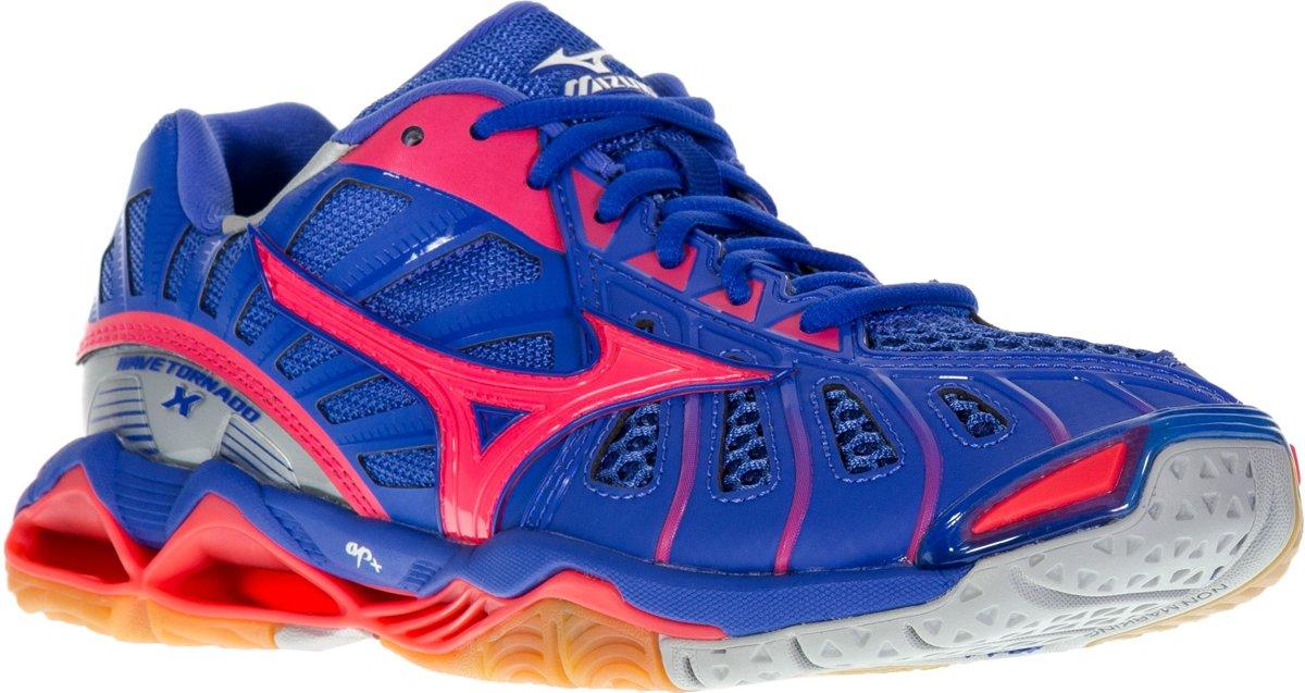 officieel verkoop uk online te koop Mizuno Wave Tornado X Sportschoenen - Maat 43 - Vrouwen - blauw/paars/roze