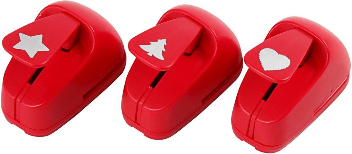 Ponsen, afm 16 mm, rood, ster, hart, kerstboom, 1set [HOB-11340] kopen